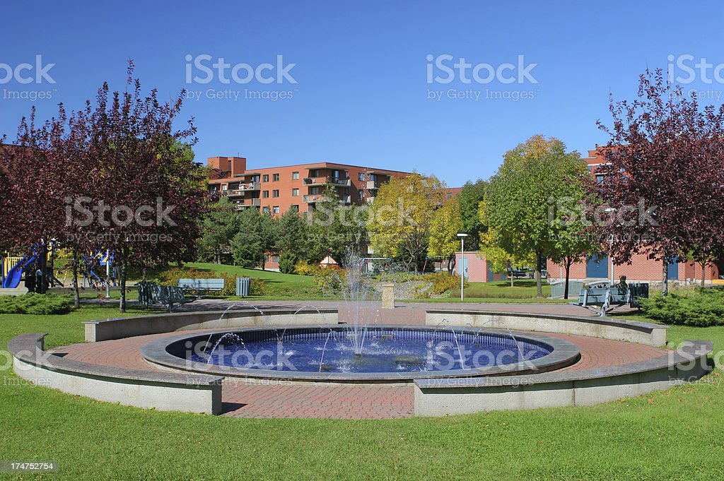 Fountain Park royalty-free stock photo