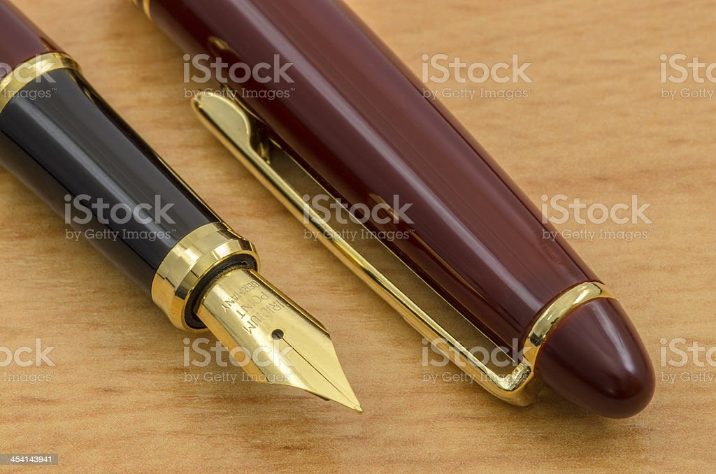 Fountain Pen and Pencil Set 04 royalty-free stock photo