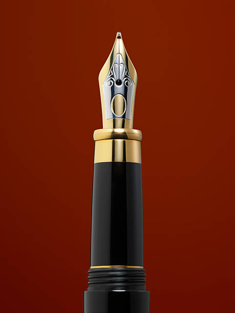 Fountain pen close-up stock photo
