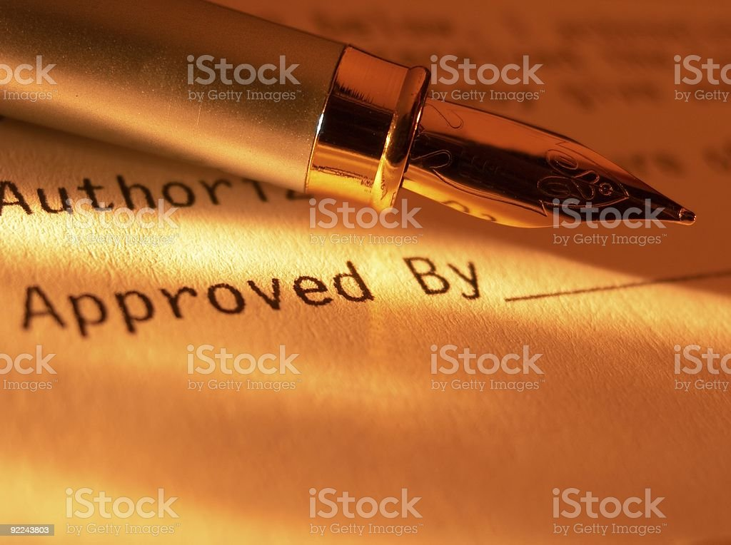 Fountain pen on the form. royalty-free stock photo