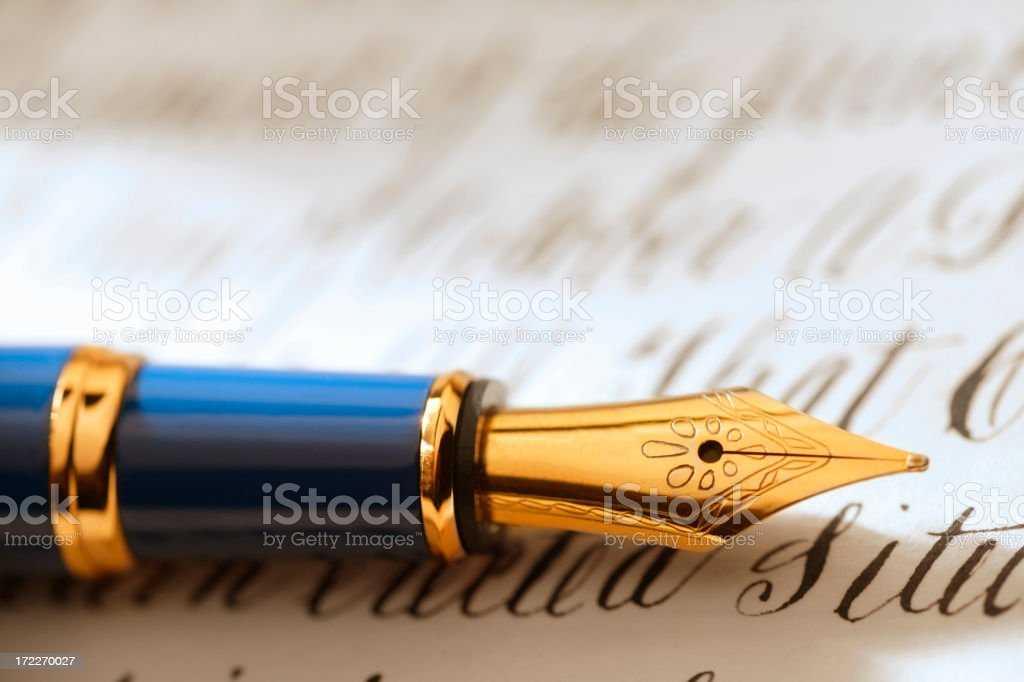 Fountain Pen stock photo
