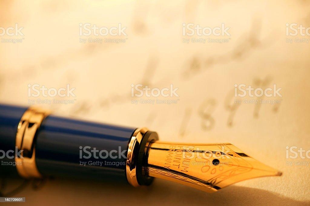 Fountain Pen & Signature royalty-free stock photo