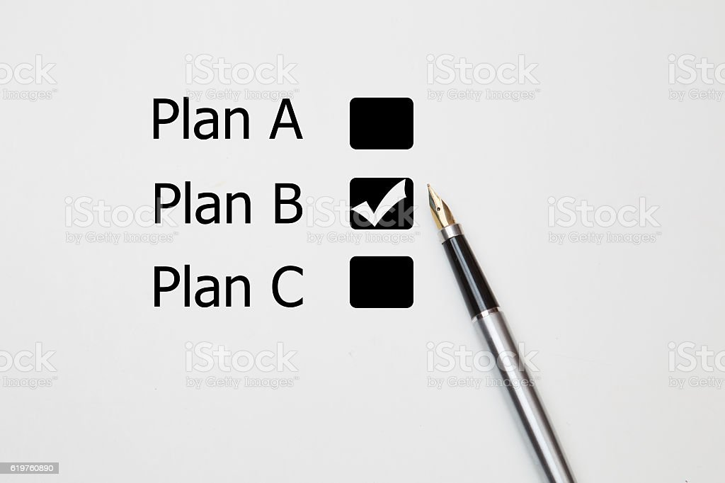 fountain pen Tick in yes checkbox stock photo