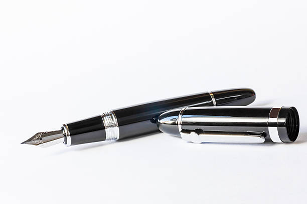 Fountain Pen with Clipping Path stock photo