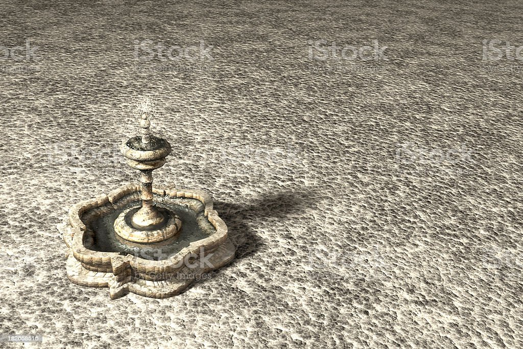 3D Fountain stock photo