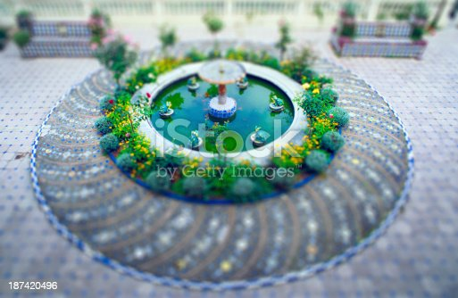 Fountain,Granada,Spain. Selective focus.