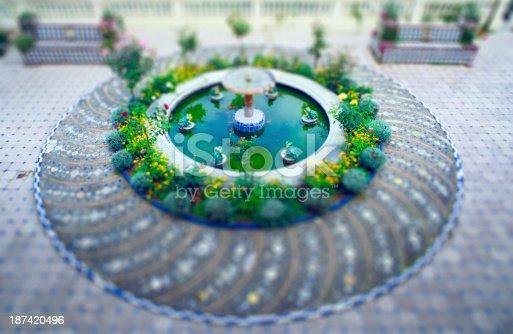 Fountain,Granada,Spain. Selective focus.
