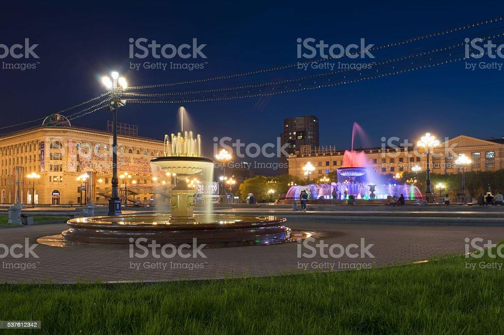 Brunnen Saison in Chabarowsk, Russland – Foto