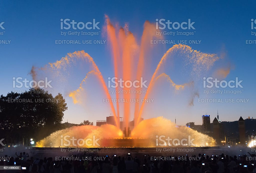 Fountain show - Barcelona - Spain photo libre de droits