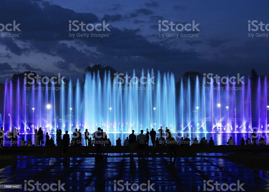 fountain show stock photo