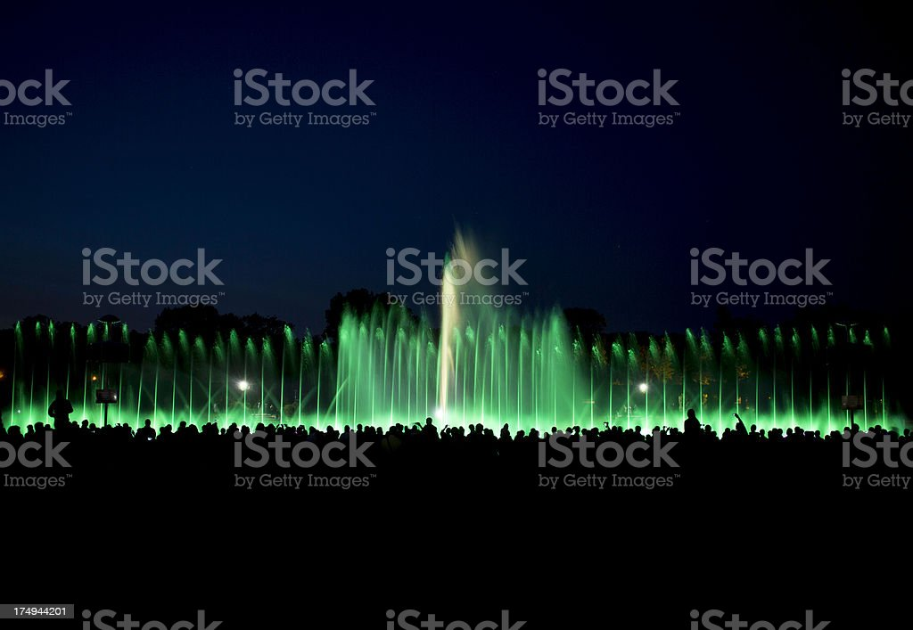 fountain show royalty-free stock photo