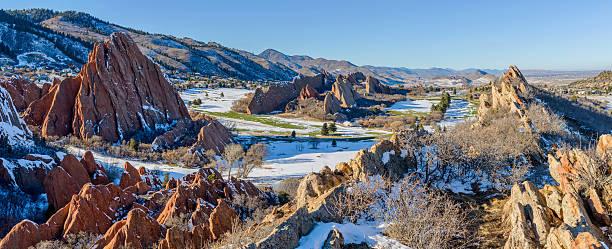 Fountain Valley at Roxborough State Park - Colorado stock photo