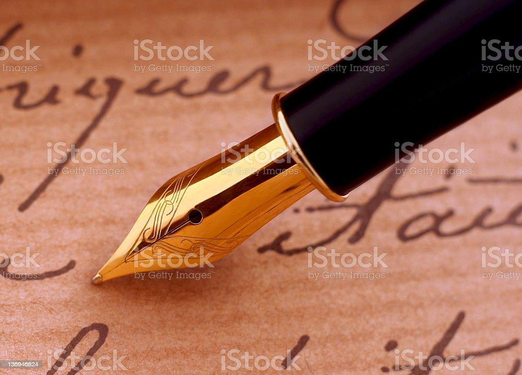 Fountain-pen stock photo