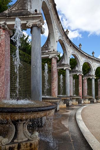 Fountains at the Bosquet de La Colonnade in Versailles