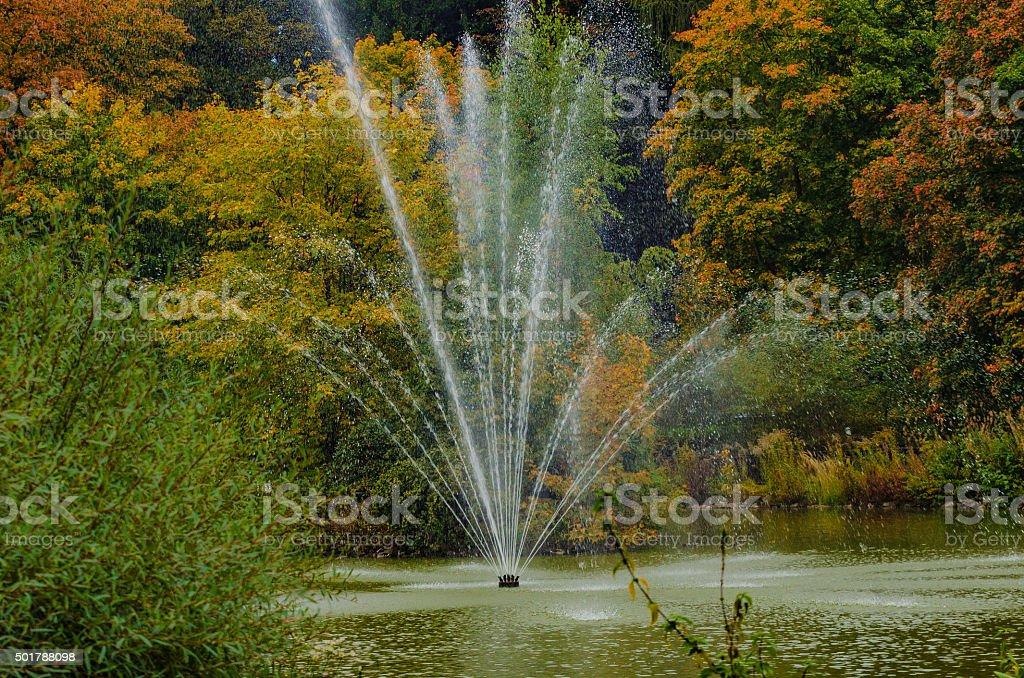 Springbrunnen im Park stock photo