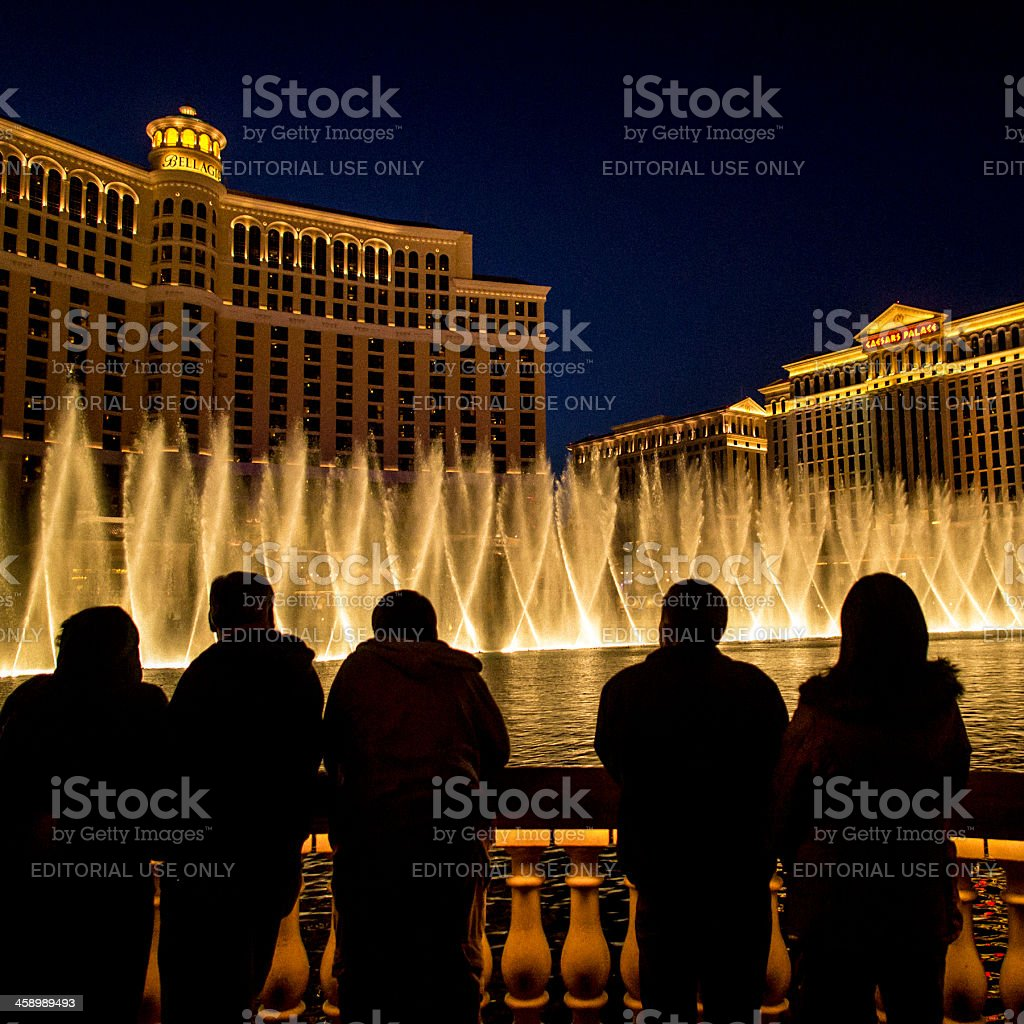 Fountains of Bellagio royalty-free stock photo