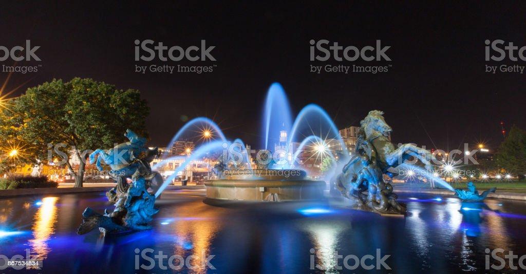 Brunnen auf der Plaza in Kansas City – Foto
