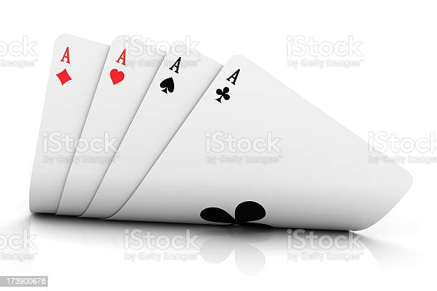Four aces have been dealt on a white background picture id173900678?b=1&k=6&m=173900678&s=612x612&h=5aeouhsr q6j8cmmpb w7wqdwyt1 jvtyerxqhrygpu=