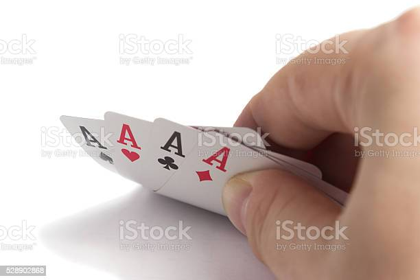 four Aces in the right hand