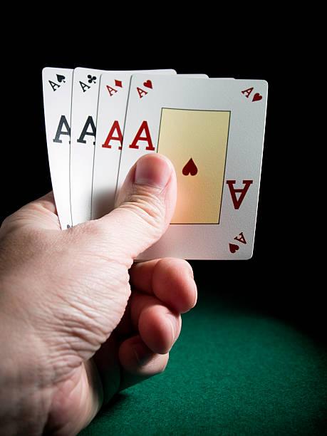 Four aces stock photo