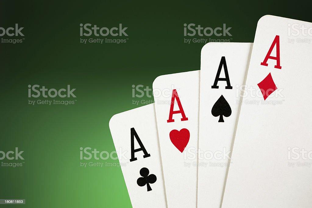 Four Aces royalty-free stock photo
