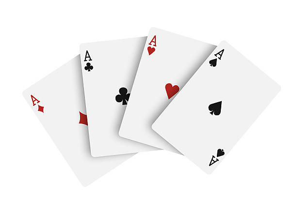 Quatre aces, cartes à jouer - Photo