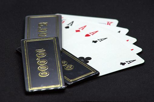 Vier Azen Poker All Inn Stockfoto en meer beelden van Aas - Kaarten