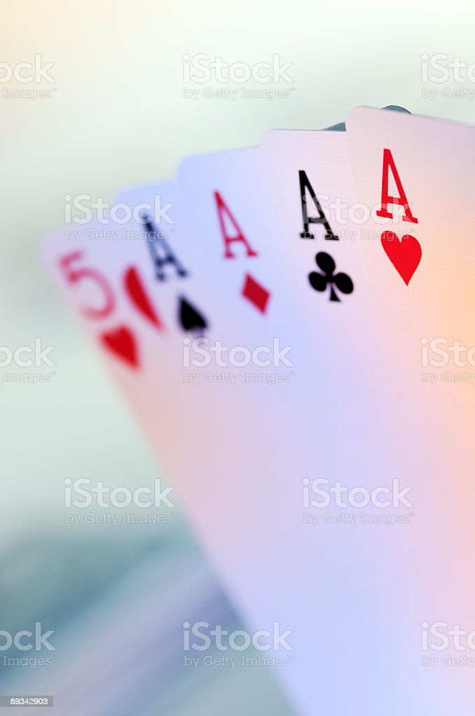 Four aces / poker cards royalty-free stock photo