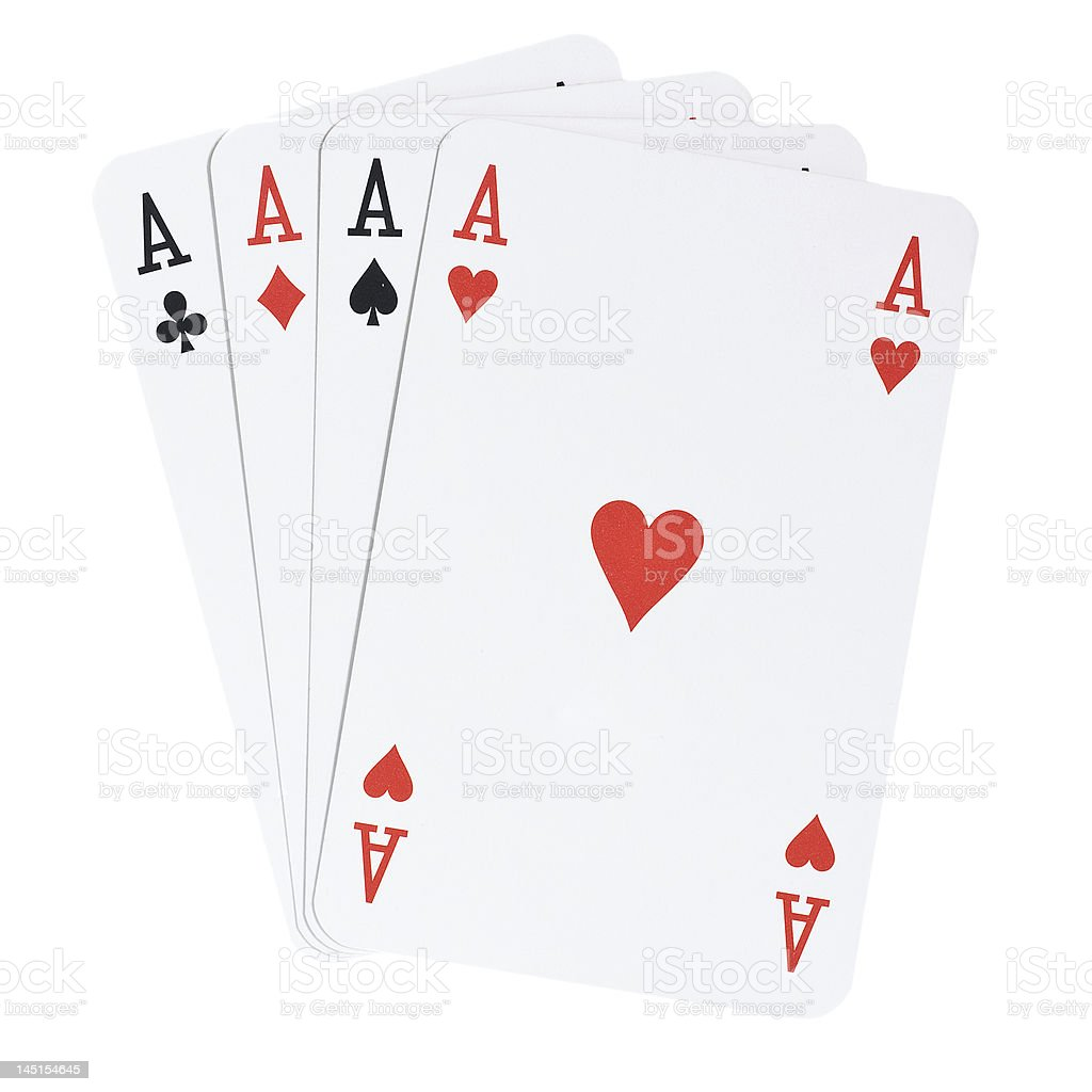Four Aces [with clipipng path] stock photo