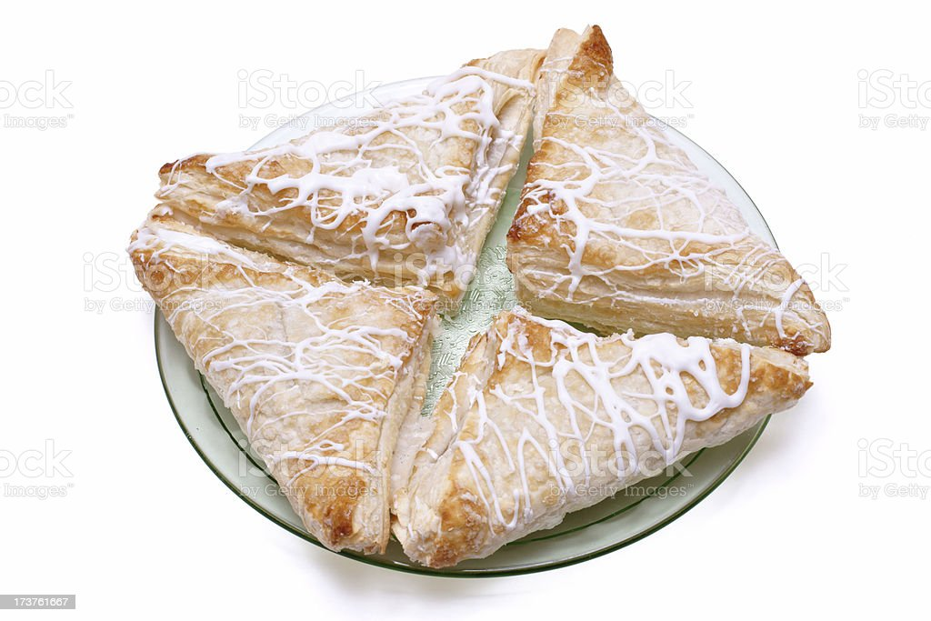four apple turnovers stock photo
