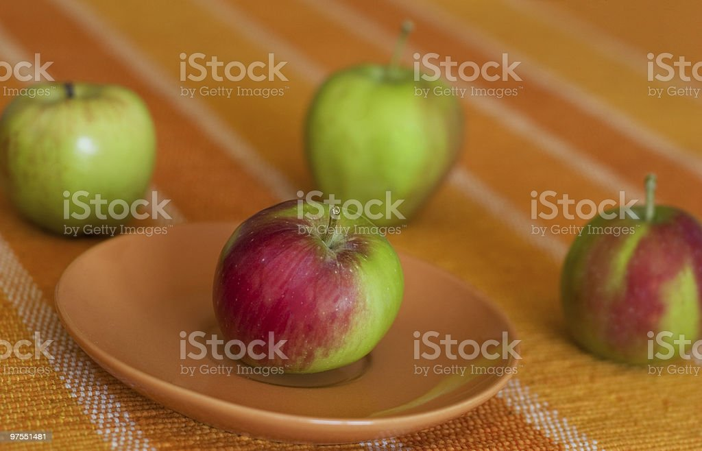 Four apples royalty-free stock photo