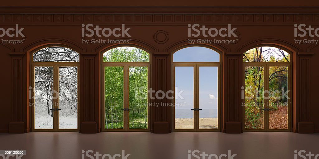Four arched door 2 stock photo
