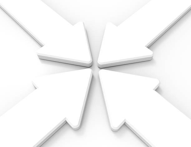 Four arrows stock photo