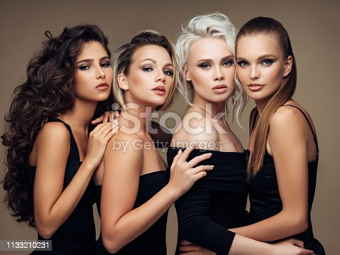 564586660istockphoto Four beautiful girls with make-up and hairstyle 1133210231