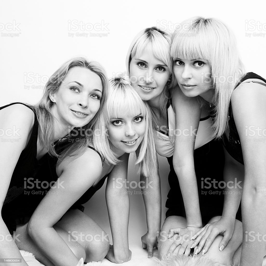 Four beautiful women - Royalty-free 20-24 Years Stock Photo
