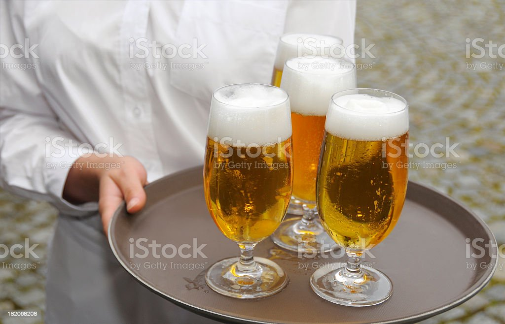 Four Beer royalty-free stock photo
