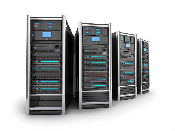 four big server - network server stock pictures, royalty-free photos & images