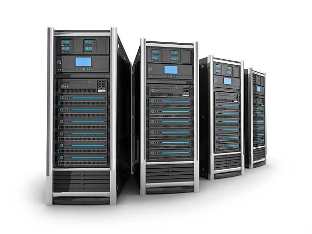 Vier große Server – Foto