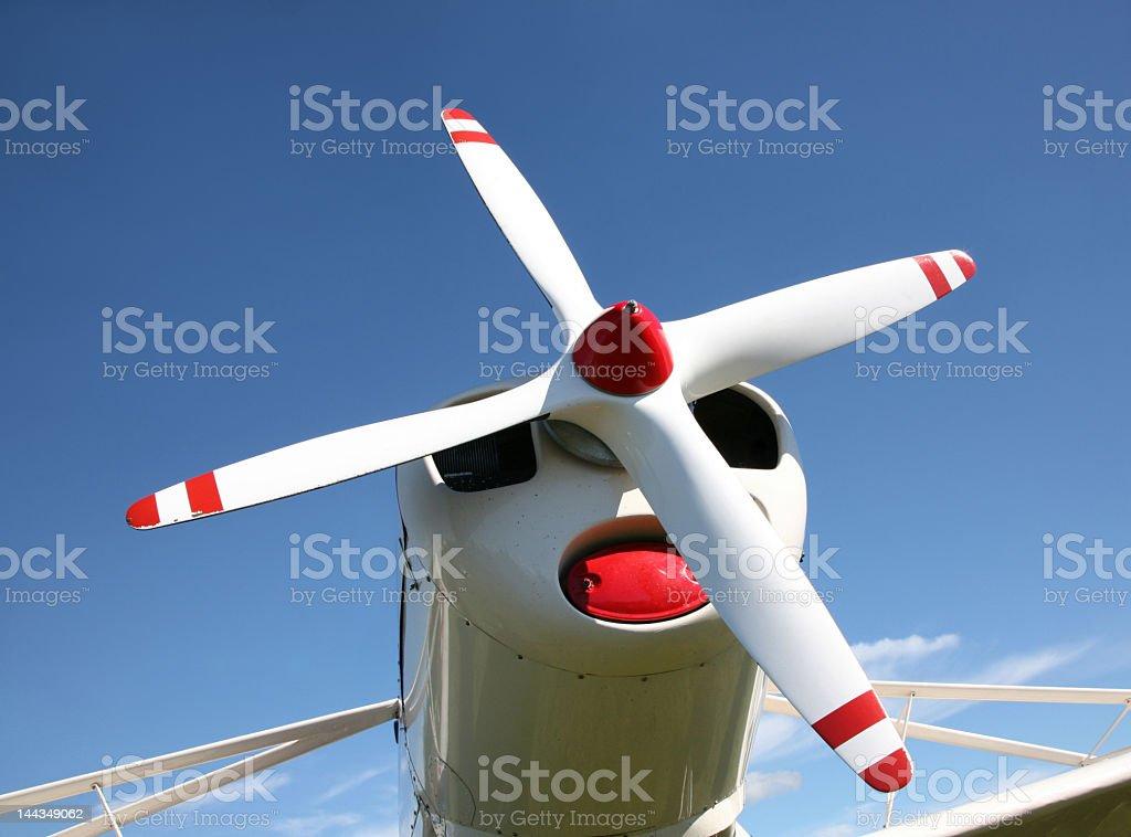 Four blade propeller stock photo