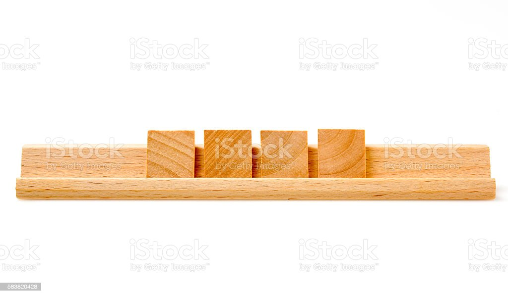 Four Blank Board Game Tiles stock photo