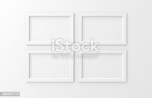 istock four blank frames 650062770