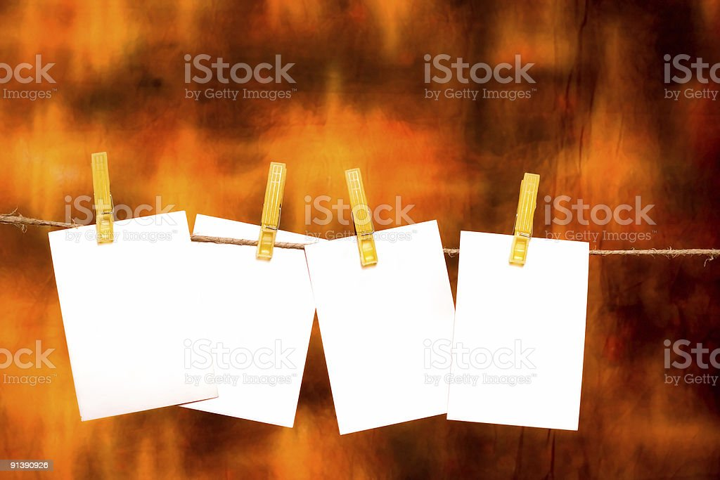 Four Blank memo Sheets with place for your text royalty-free stock photo