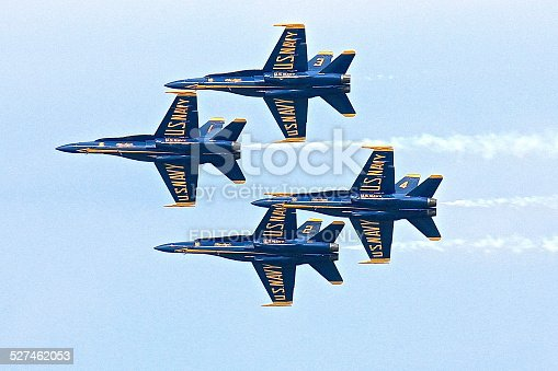 istock Four Blue Angels in flight formation 527462053