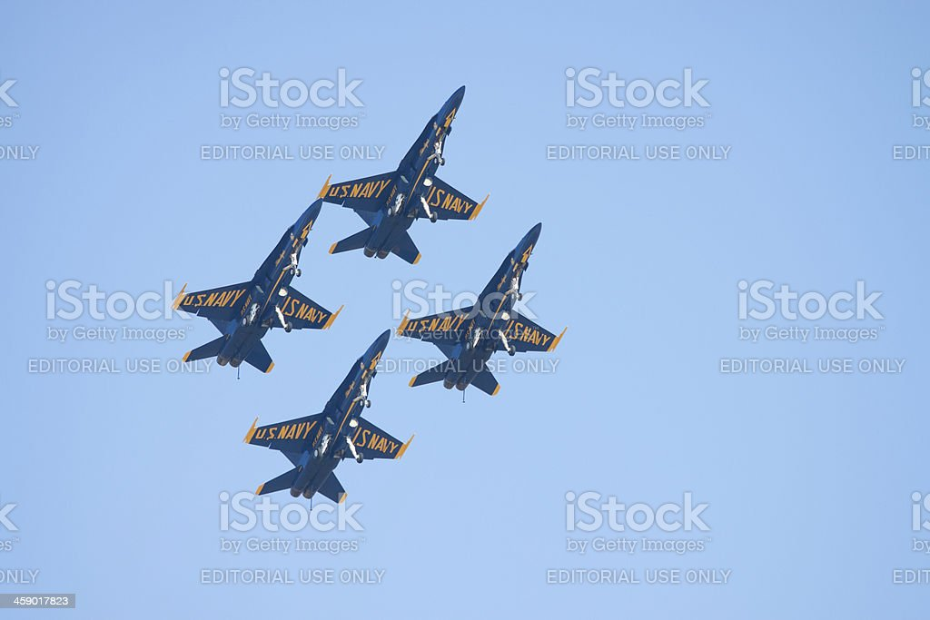 Four Blue Angels stock photo
