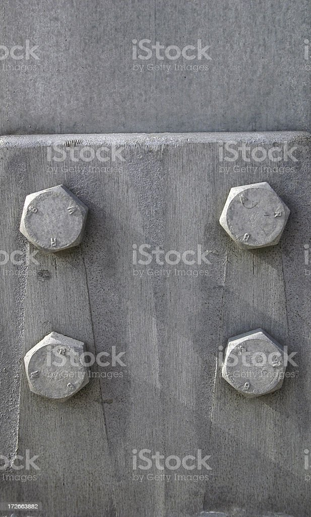 Four Bolts royalty-free stock photo