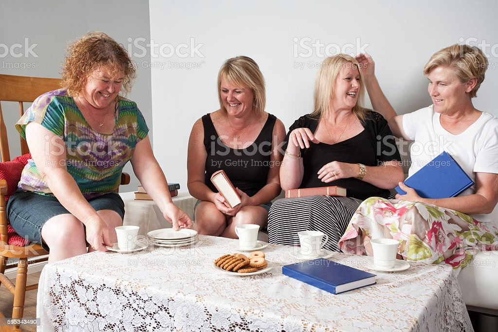 Four Book Club Women stock photo
