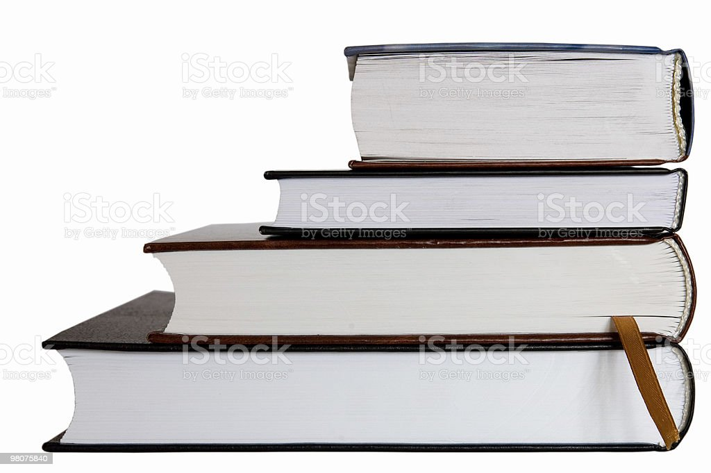 Four books isolated on white royalty-free stock photo