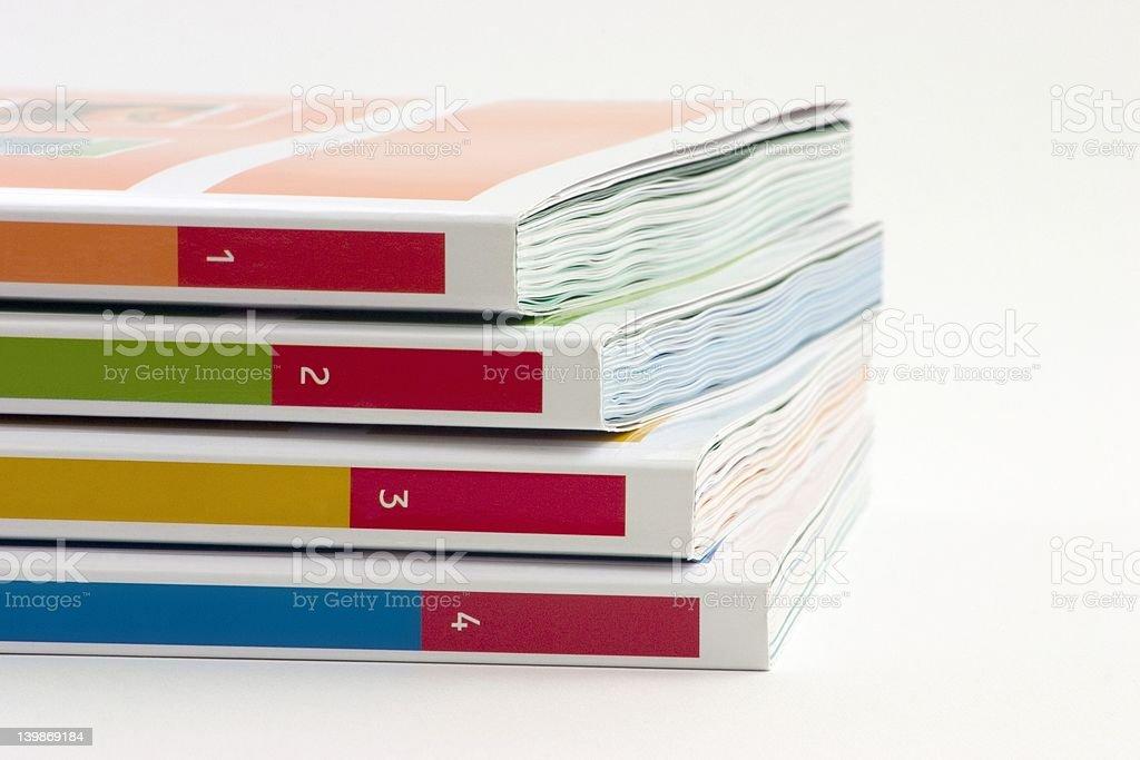 Four Books stock photo