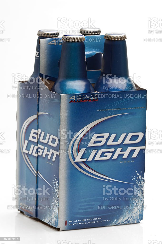Four bottles of Bud Ligth Beer royalty-free stock photo