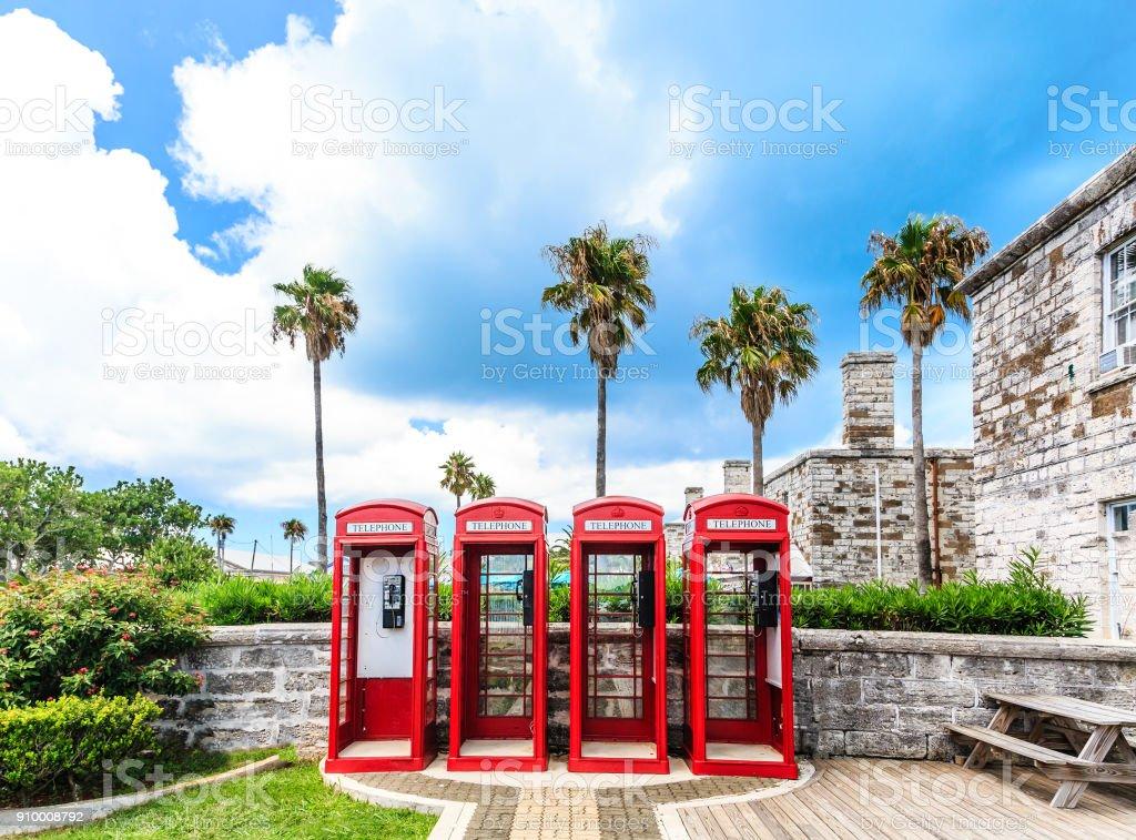 Four British Phone Booths on Bermuda – zdjęcie
